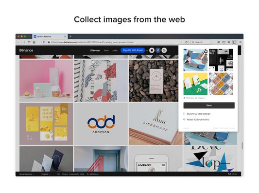 Collect images from the web