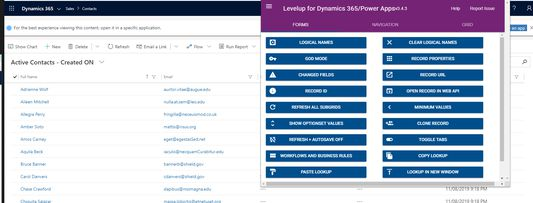 Extension popup on Dynamics 365