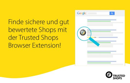 The official Trusted Shops Google Chrome extension shows you which online shops have the Trusted Shops trustmark directly in the search results.