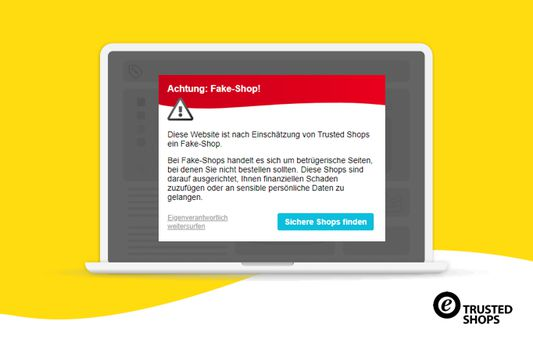 In addition, you are actively warned with a pop-up when you enter a shop that Trusted Shops has classified as fraudulent.