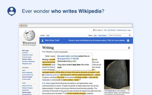 Ever wonder who writes Wikipedia?