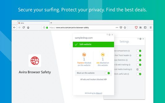 Secure your surfing. Protect your privacy. Find the best deals.