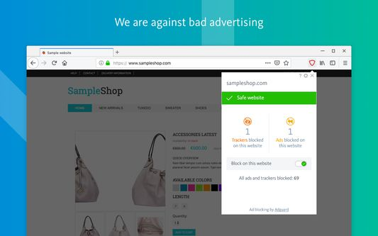 We are against bad advertising