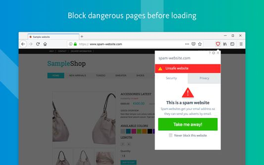 Block dangerous pages before loading