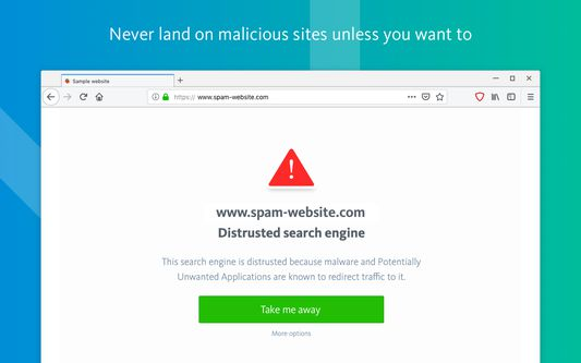 Never land on malicious sites unless you want to