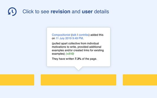 Click to see revision and user details.