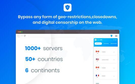 Push VPN - Unlimited VPN, Free Server, Unmetered Speed