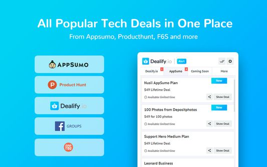 All popular lifetime deals in one place