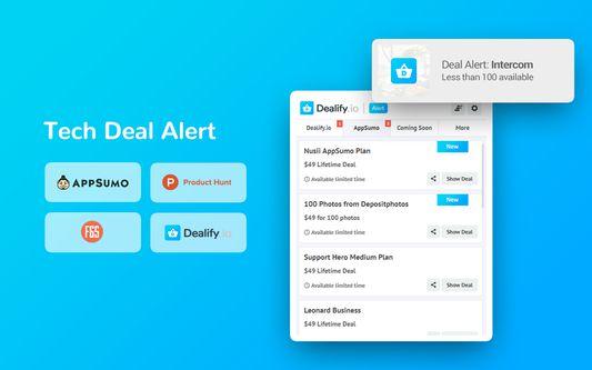 Get access to the Tech Deal Alert