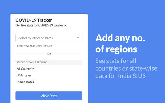 Easy to select your own region and select from default ones.