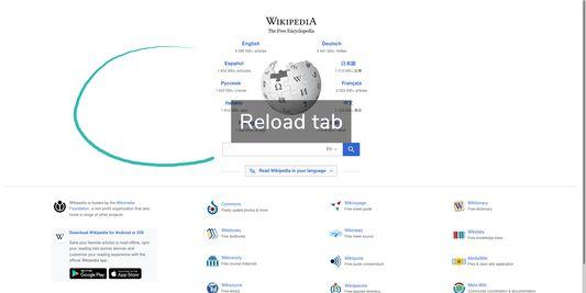 Gesture: Reload tab
