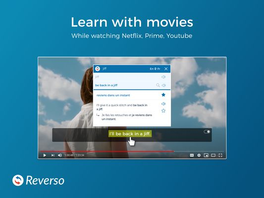 Learn with movies Directly from your browser
