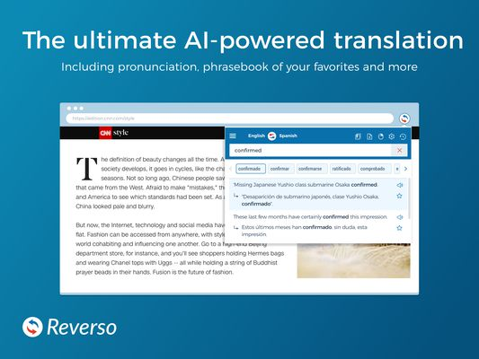 The ultimate AI-powered translation Including pronunciation, phrasebook of your favorites and more