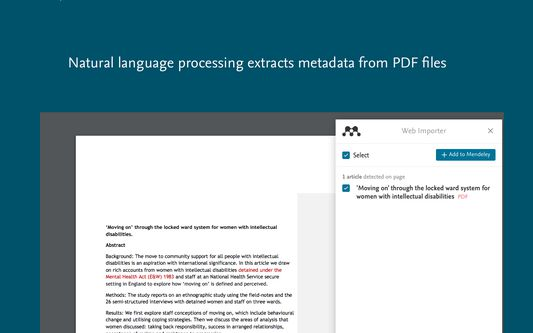 Natural language processing extracts metadata from PDFs