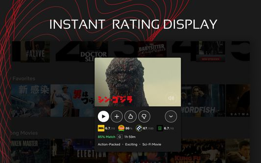 Instant rating display.