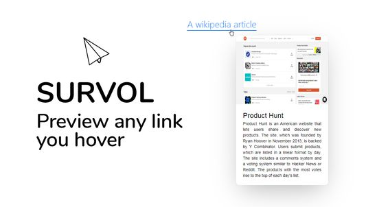 Survol, preview any link you hover