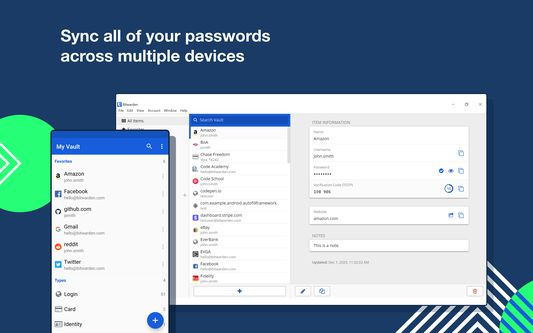 Sync all of your passwords across multiple devices