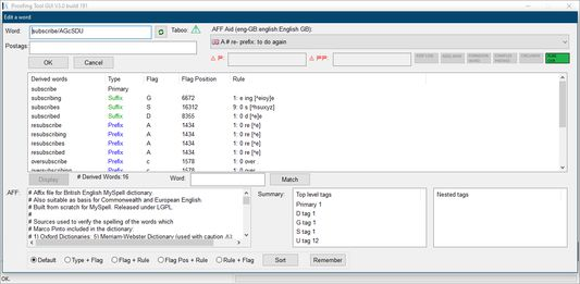 Open-source tool used in the speller (V3.0 build 191)