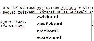 dictionary in work (Lower Sorbian Wikipedia)