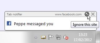 Notification example on Windows