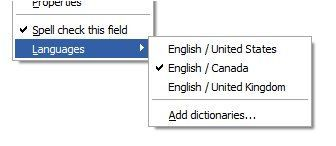 Check your spelling in Canadian English
